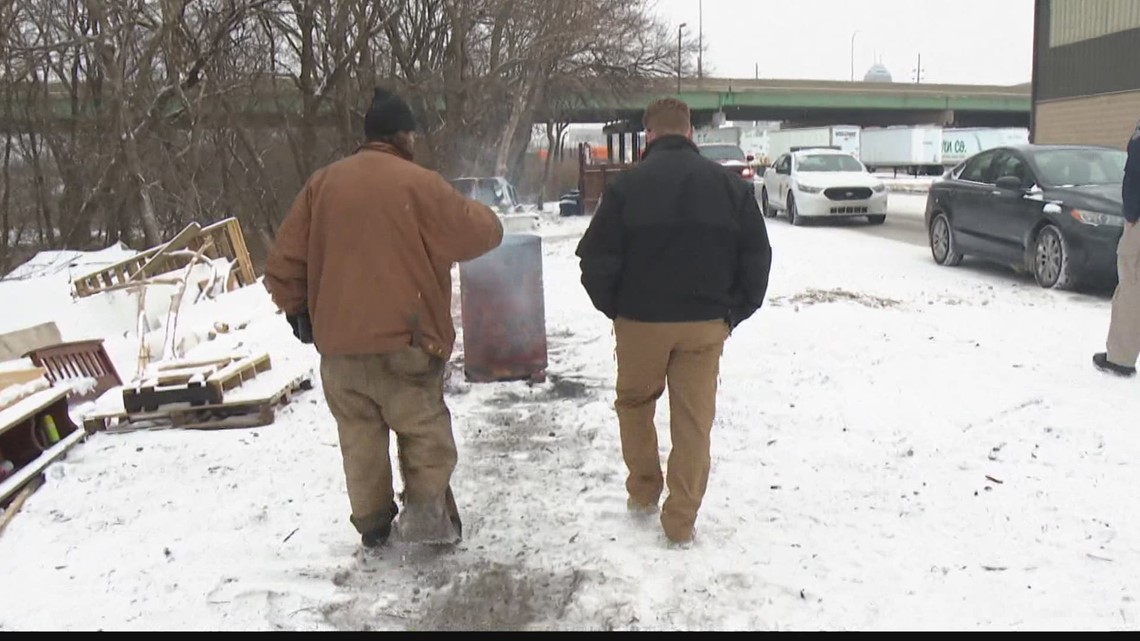 IMPD unit checks on homeless during winter storm