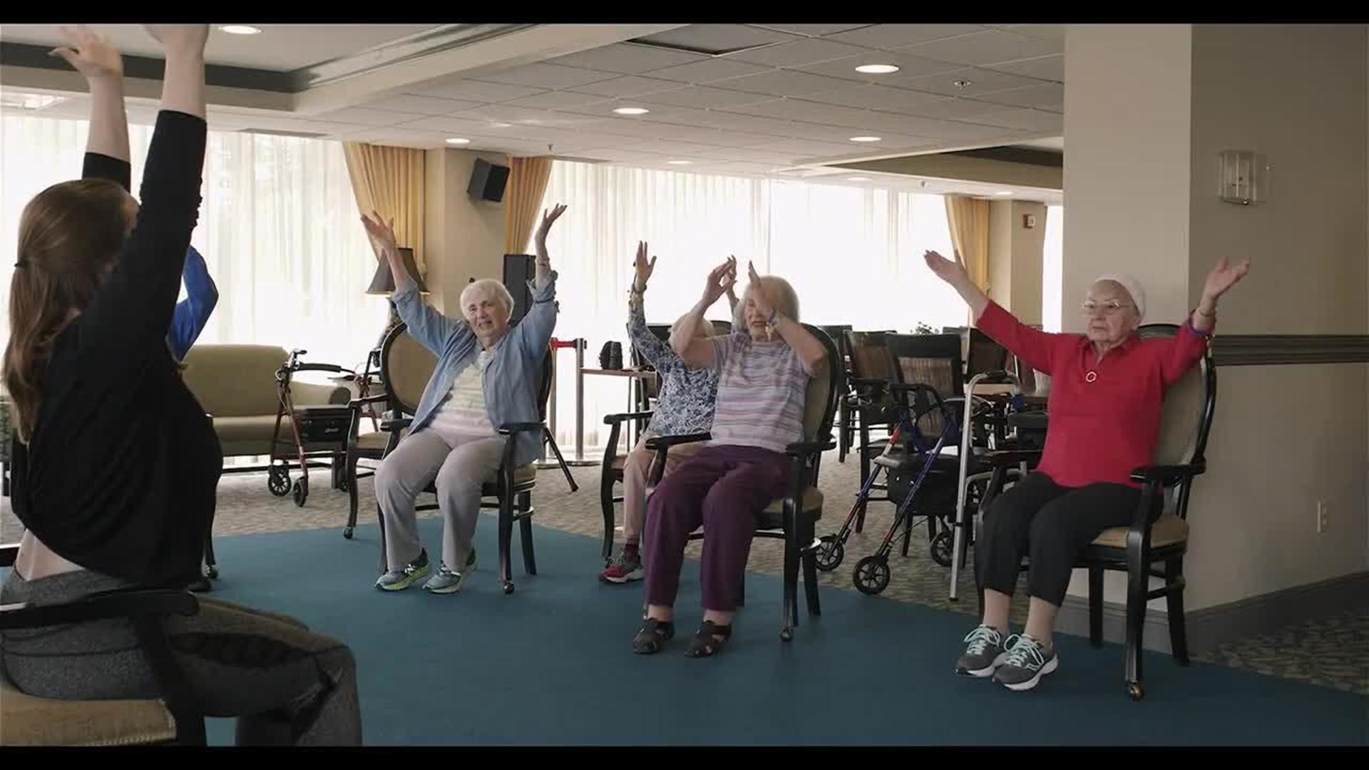 After Injury Former Pro Ballerina Finds Purpose Teaching Seniors Chair Ballet Wthr Com