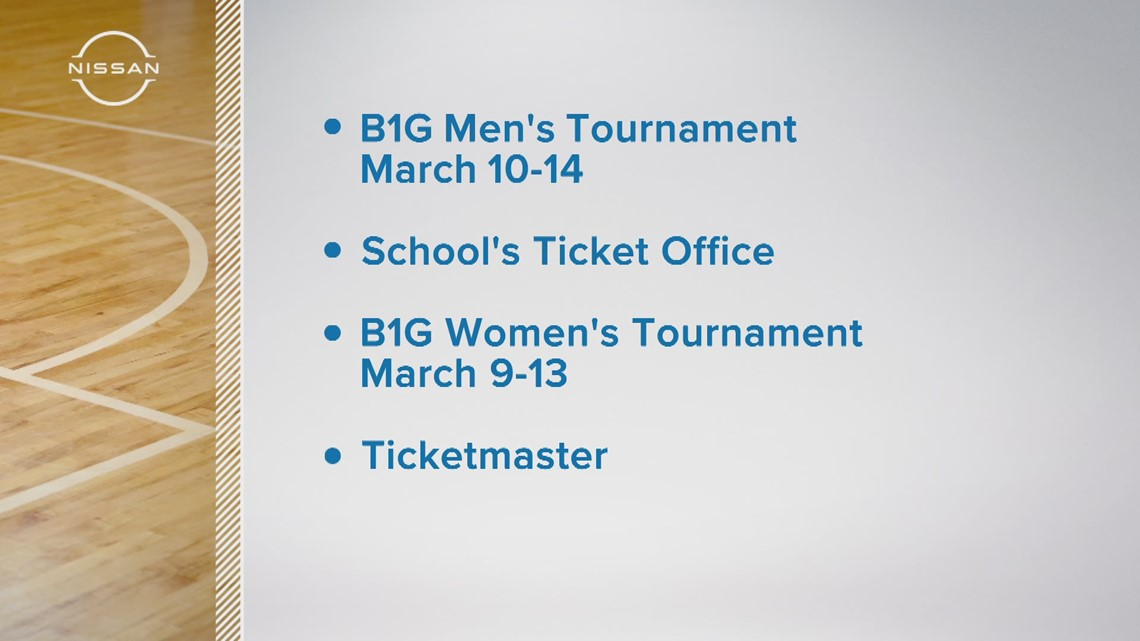Big Ten announces fans allowed at men's, women's basketball tournaments