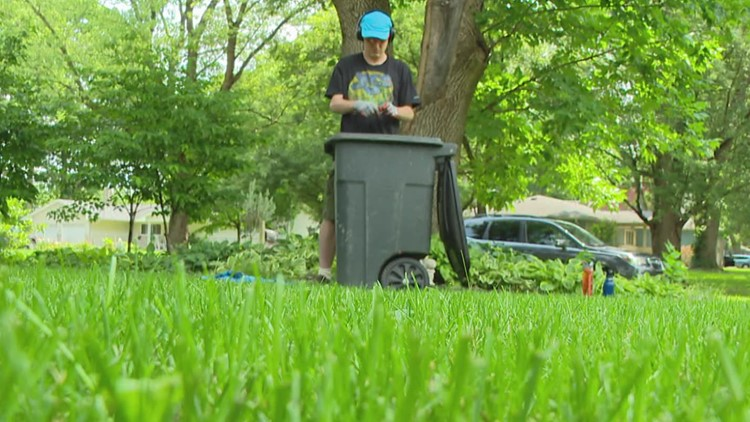 Indianapolis man with autism connects with neighbors through yardwork