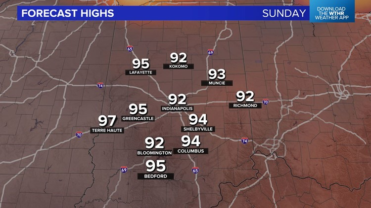 Live Doppler 13 Weather Blog: Streak of hot air on the way