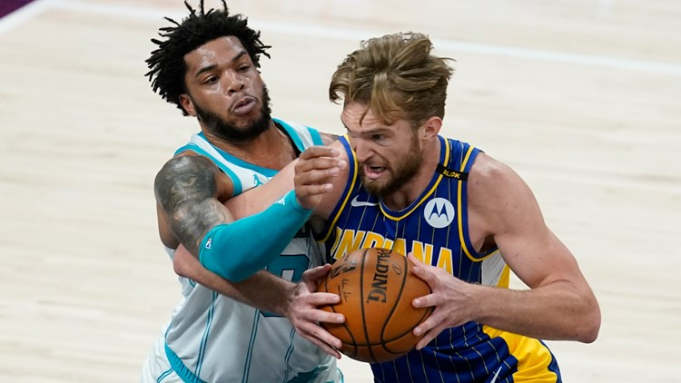 Pacers rout Hornets, advance in NBA play-in tournament