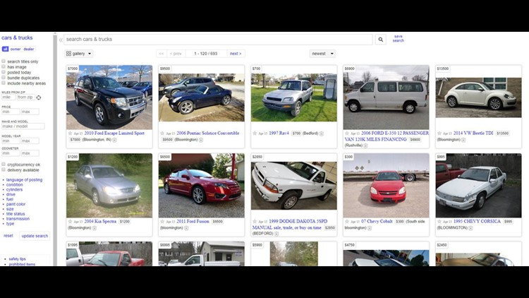 Craigslist Now Charging 5 To List Cars Trucks For Sale Wthr Com