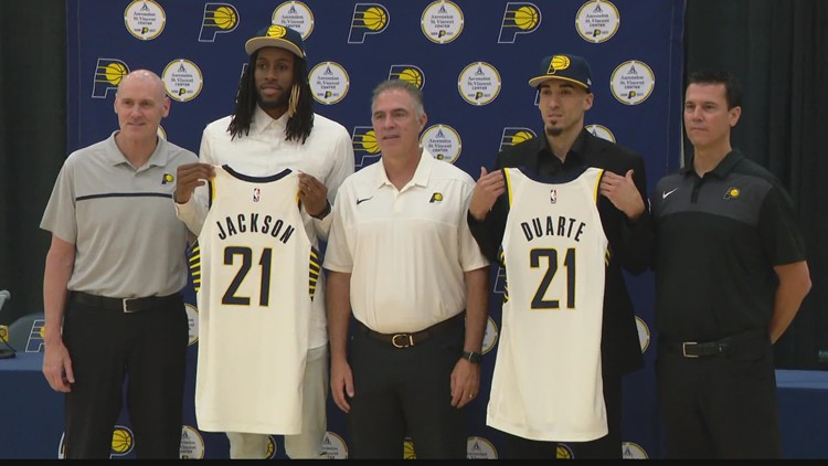 Pacers introduce Duarte, Jackson