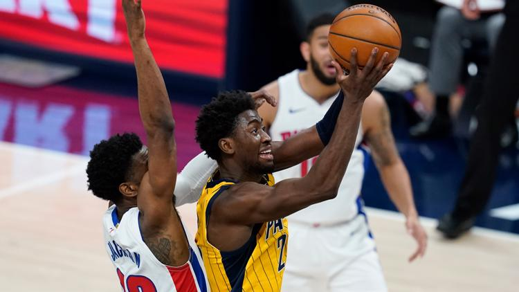Late 12-0 run carries Pacers to 115-109 over Pistons
