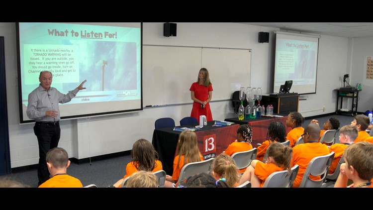 Angela, Chuck take 13 Weather Academy to Marian University for STEM camp