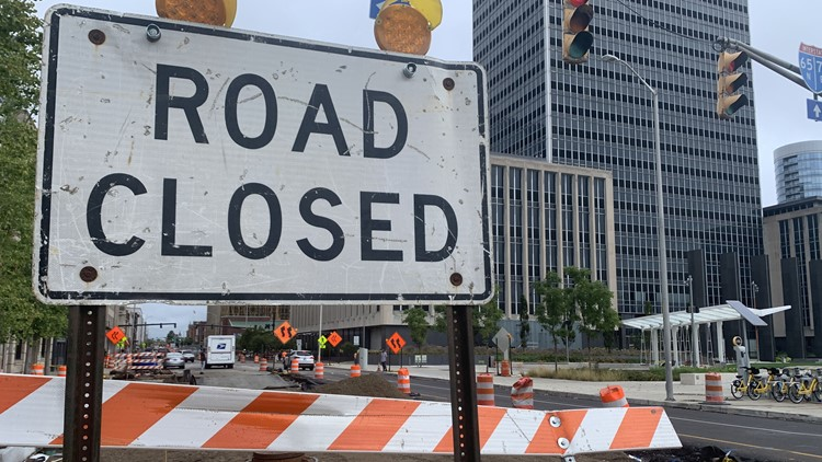 Downtown road closures causing frustration for business owners