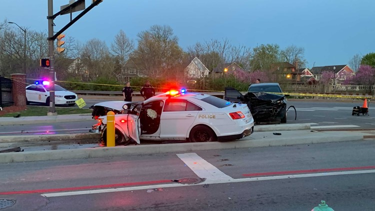 Officer injured in crash during vehicle pursuit on Indy's north side