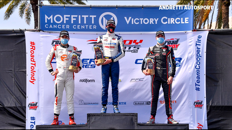 Herta takes St. Pete, ties father on IndyCar win list with 4