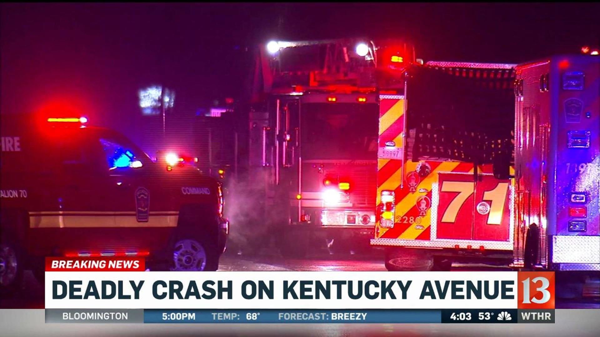 Police investigate fatal crash on Kentucky Avenue | wthr.com