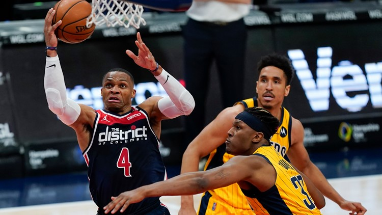 Westbrook records 16th triple-double, Wizards beat Pacers
