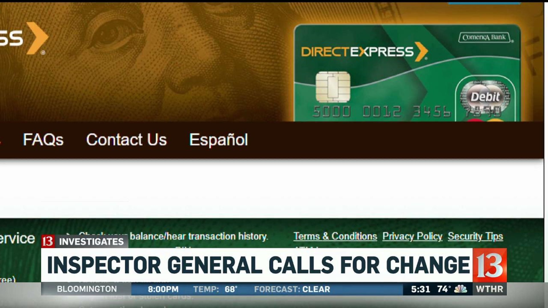 Watchdog Agency Creates New Tracking Option For Direct Express Fraud Victims Wthr Com