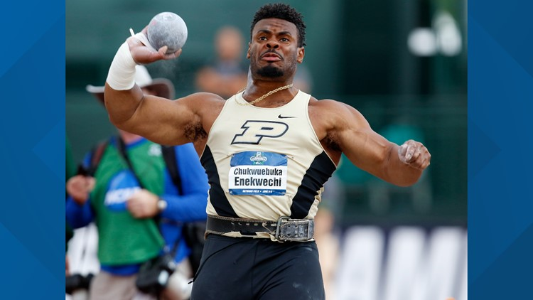 Purdue shot put athlete was an Olympian in the making