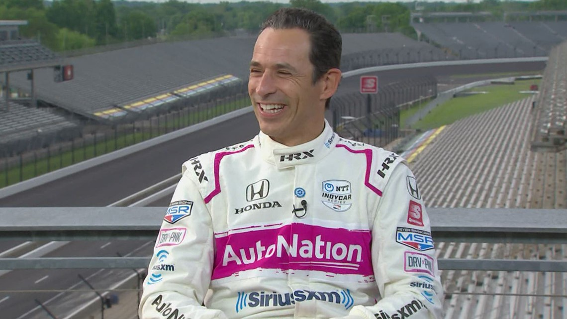 Helio Castroneves watches his fourth Indy 500 win