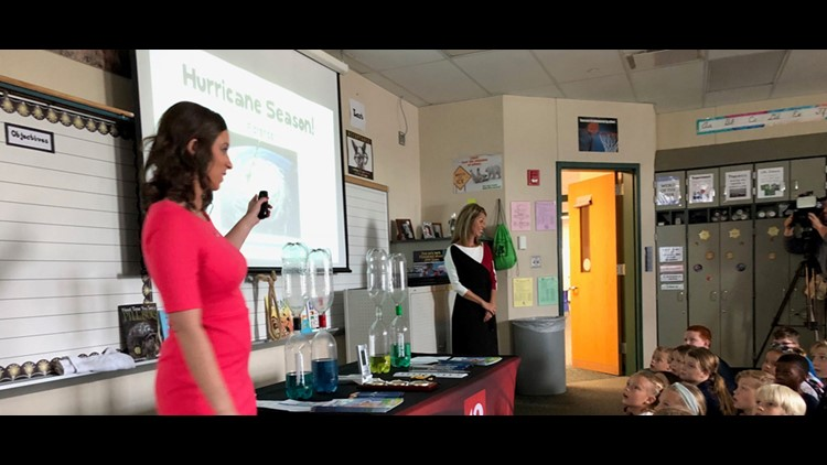 Lindsey and Angela take Weather Academy to Stonegate Elementary