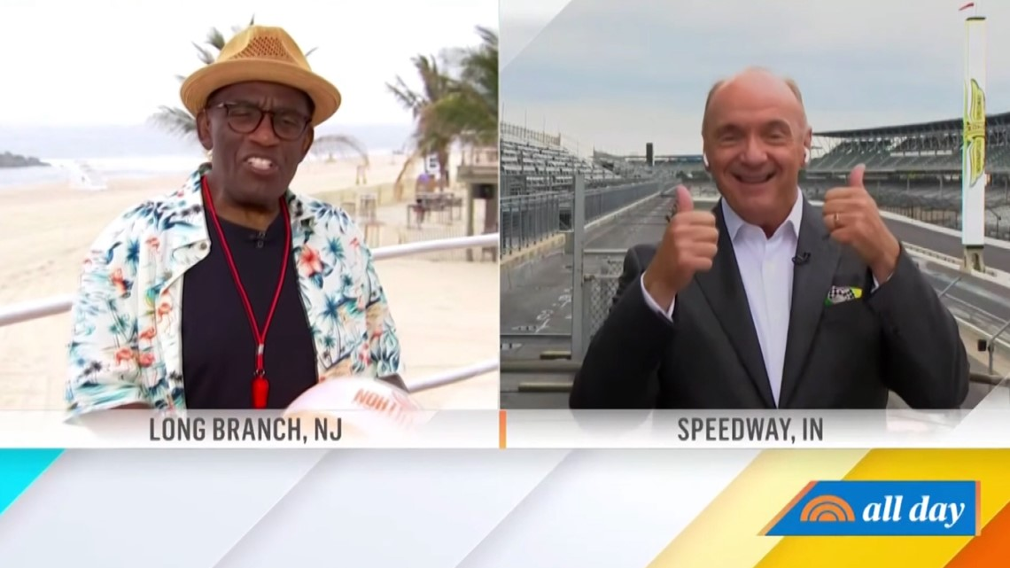 Chuck Lofton participates in 'Rokerthon' weather reporting relay on 'TODAY'