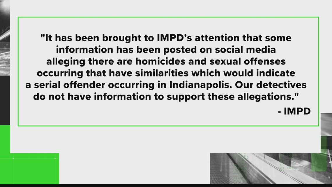 IMPD refutes rumors about an Indianapolis serial killer
