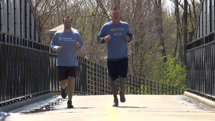 Jake Query runs Mini-Marathon 6 months after heart attack