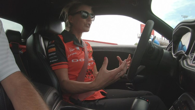 WATCH: Top fuel drag racer Leah Pruett takes Dave Calabro on a test drive