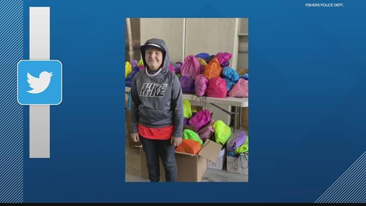 10-year-old donates