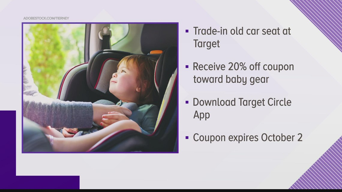 Where you can trade in your used car seat for savings
