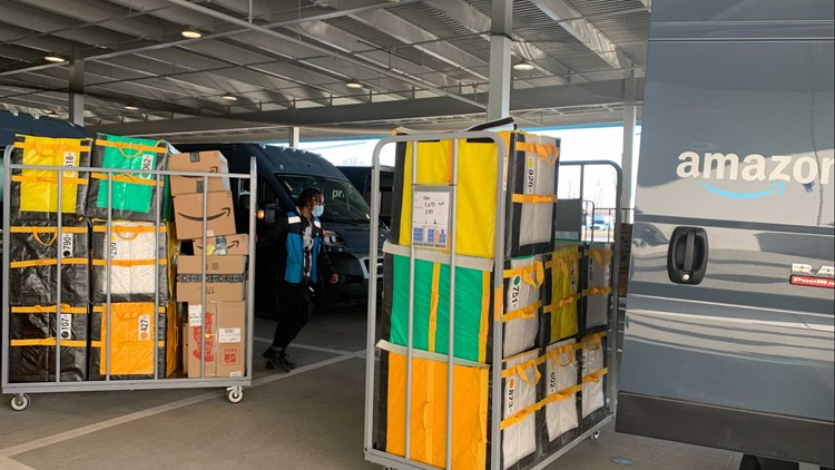 Greenwood's Amazon delivery station bustling ahead of Christmas
