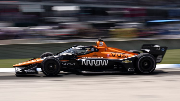 O'Ward passes Newgarden late to win at Belle Isle