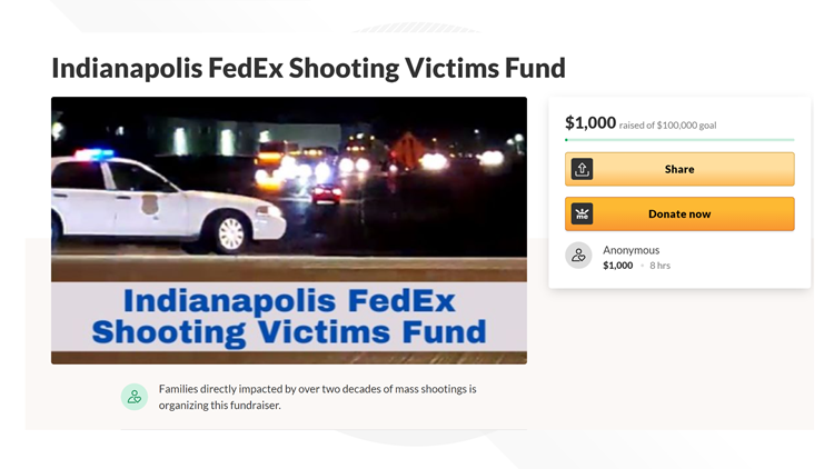 Survivors, families of previous mass shootings set up GoFundMe for FedEx victims