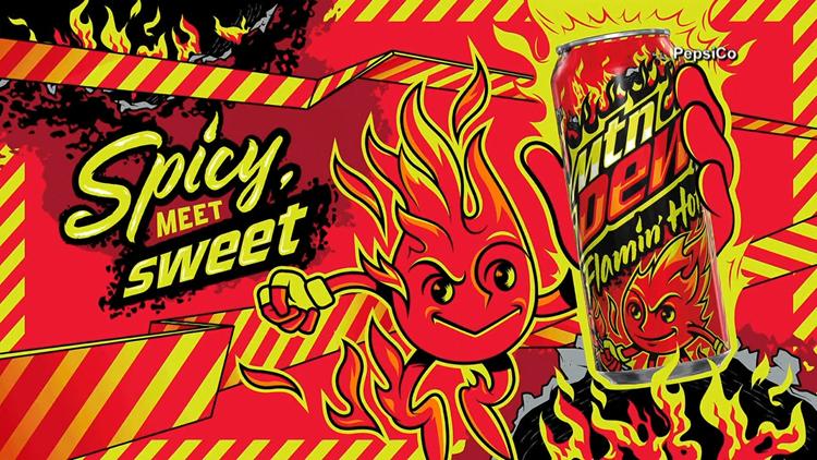 Mountain Dew launching a Flamin' Hot Cheetos flavor