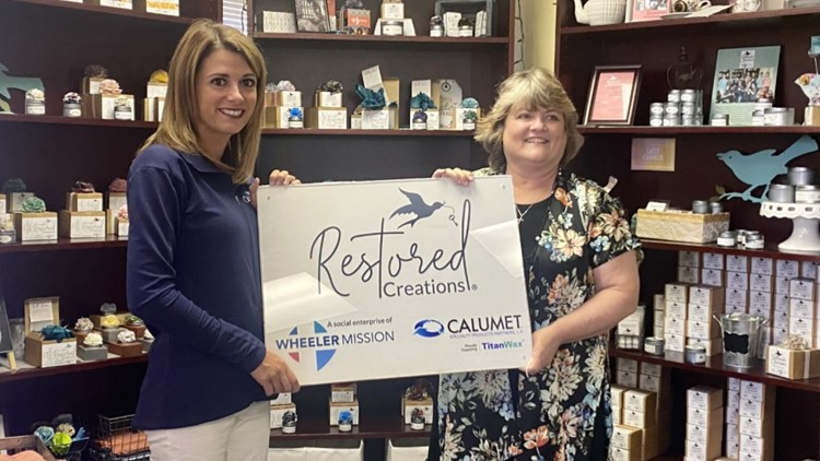 Calumet donates year's worth of candle wax to Wheeler Mission's 'Restored Creations'