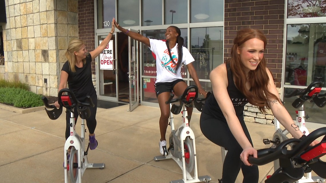 Friday Fit Tip: Tamika Catchings pop-up cycling clinic