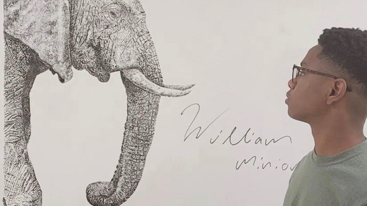 Unexpected whiteboard artist at Indianapolis hospital inspires staff