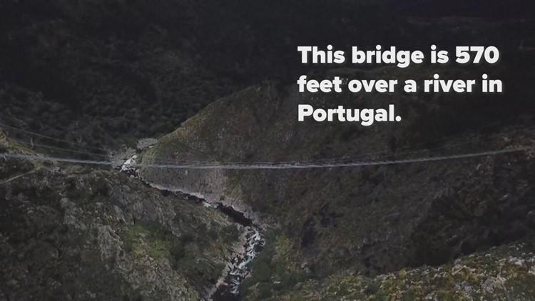 World's longest pedestrians suspension bridge opens in Portugal