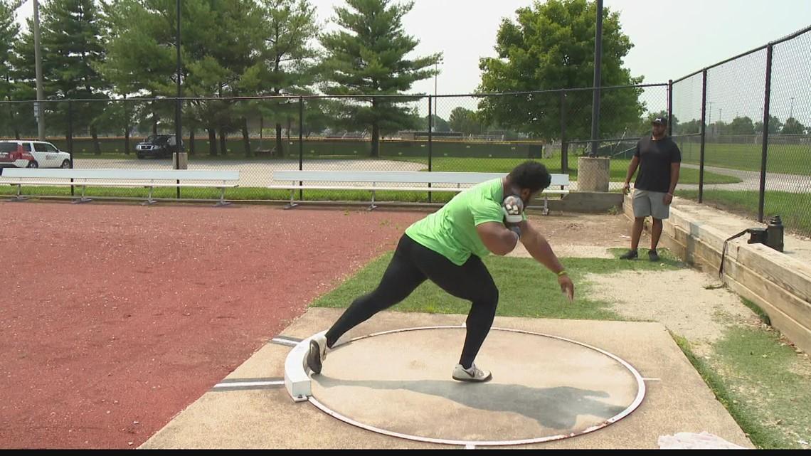 Local Nigerian-American shot put Olympian