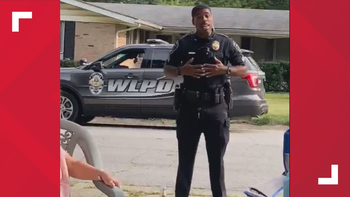 West Lafayette officer serenades family celebrating birthdays