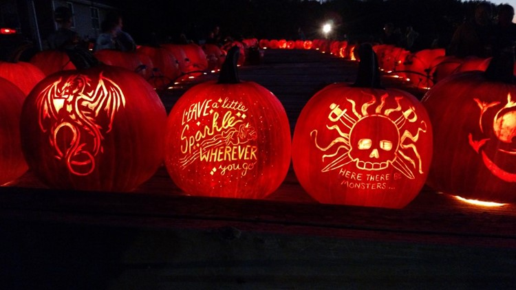 Free admission to see more than 400 pumpkins on display in North Vernon
