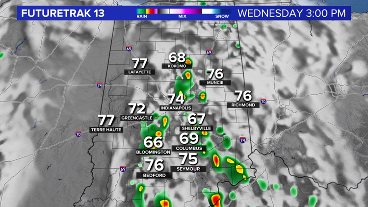 Weather Blog: Warm Wednesday with spotty storms developing