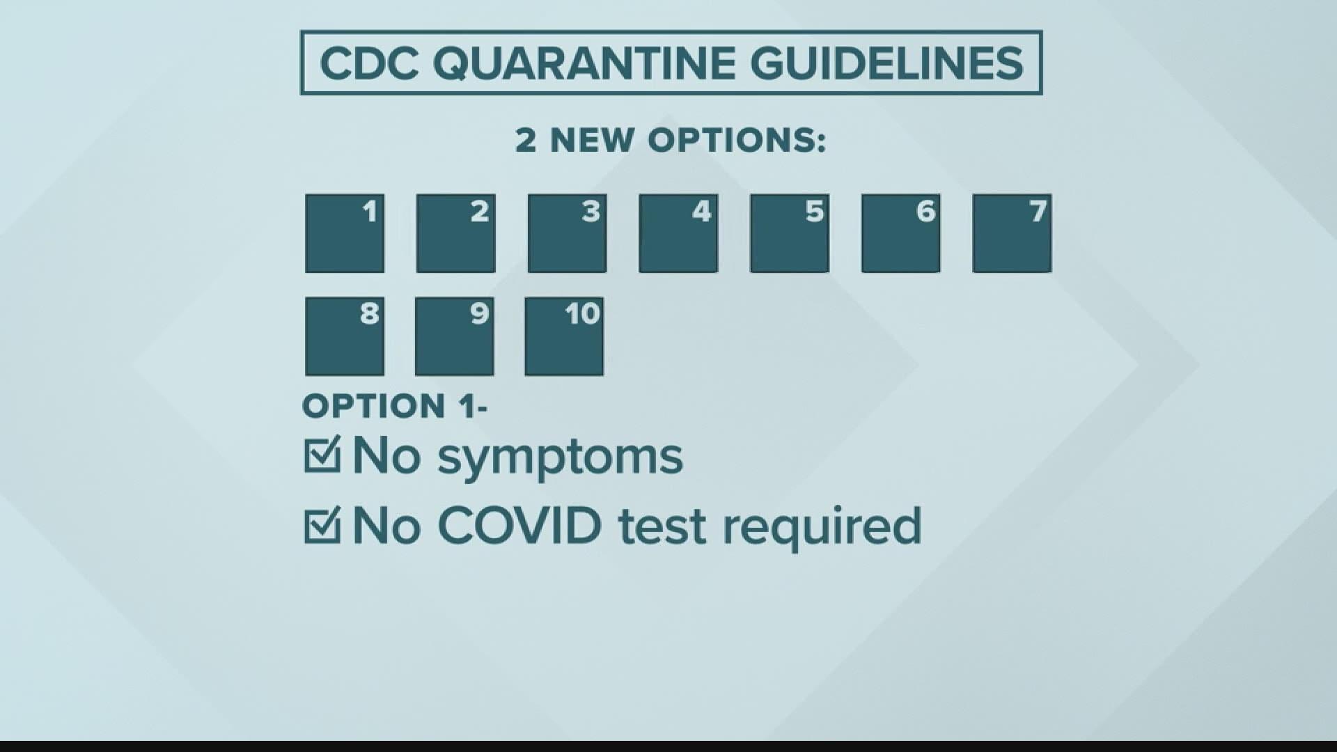 New 10 Day Coronavirus Quarantine Guideline 7 Days With Test Wthr Com