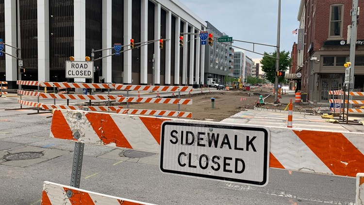 Construction on 4 prominent downtown streets to begin Monday