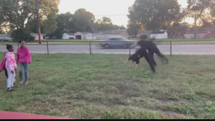 WATCH: IMPD officers show off cartwheeling skills