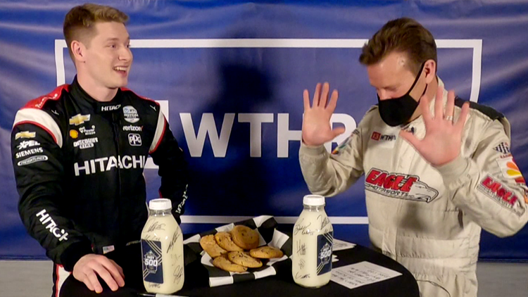 Milk and Cookies: IndyCar driver on who they want to beat and burning calories
