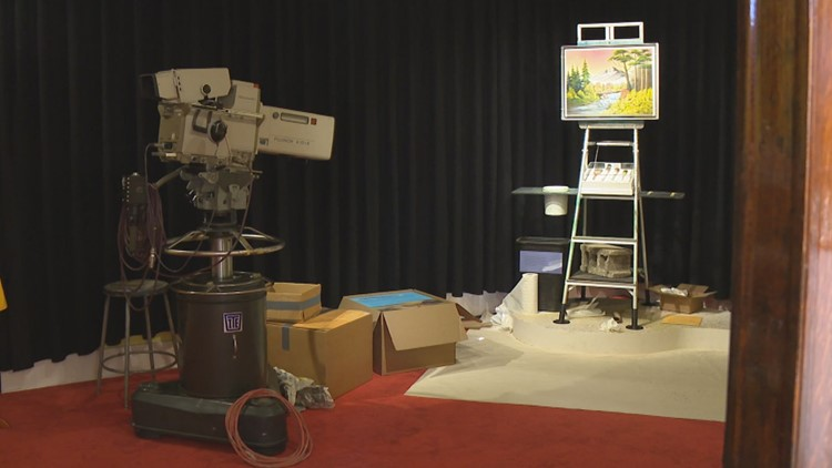 The 'Bob Ross Experience' in Muncie lets you walk into the world of happy little clouds
