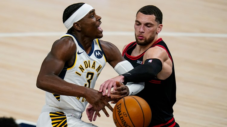 Vucevic helps Bulls run past short-handed Pacers 113-97