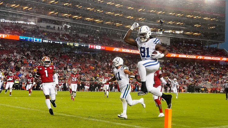 Colts-49ers Game Blog: Colts get 2nd road win of season in rainy 30-18 win against 49ers
