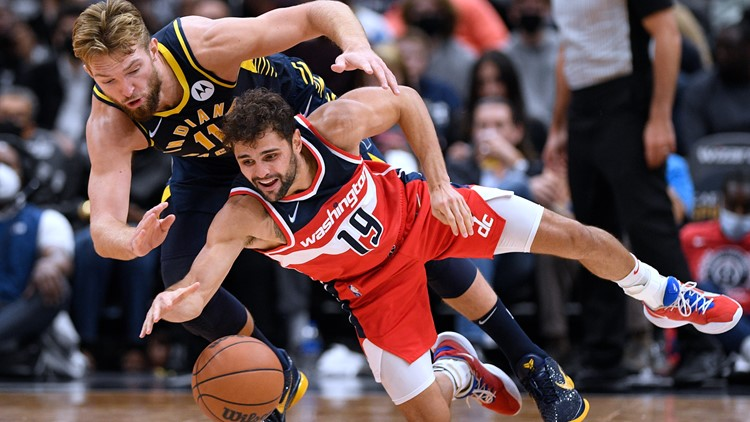 Dinwiddie leads Wizards to 135-134 OT win over Pacers