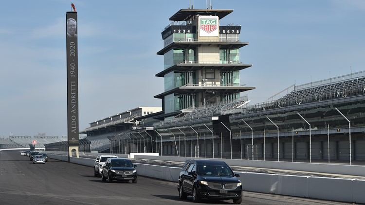 Aldo Andretti's last lap at Indianapolis Motor Speedway