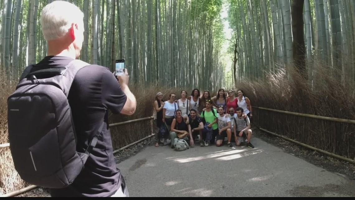 The bamboo forest in Arashiyama is a can't miss for photographers