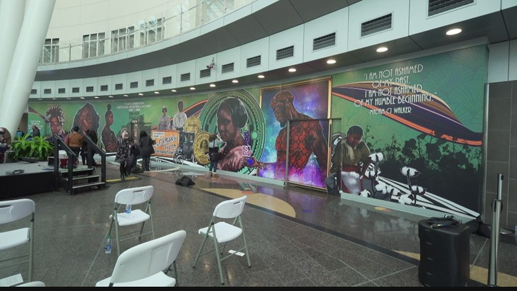 Black History Month: Madam CJ Walker mural