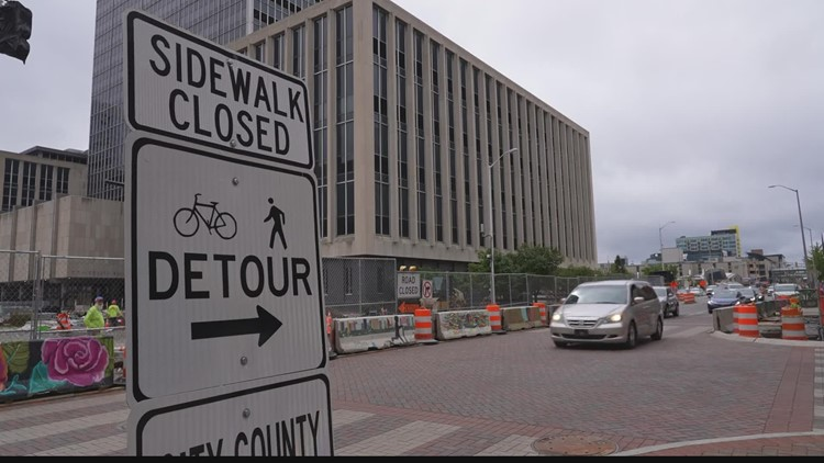 Work begins this week on new downtown construction projects