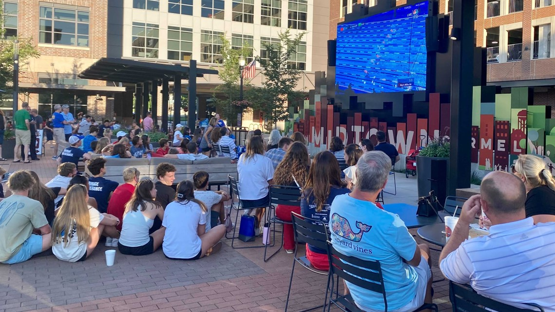 Carmel Swim Club holds U.S. Olympic Trials watch party for hometown athletes